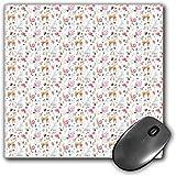 Mouse Pad Gaming Funcional Guardería Alfombrilla de ratón Gruesa Impermeable para Escritorio Animales Lindos Ciervo Caracol Búho y Conejo Acuarela Estilo Bayas y Setas Diseño,Multicolor, Base de Goma