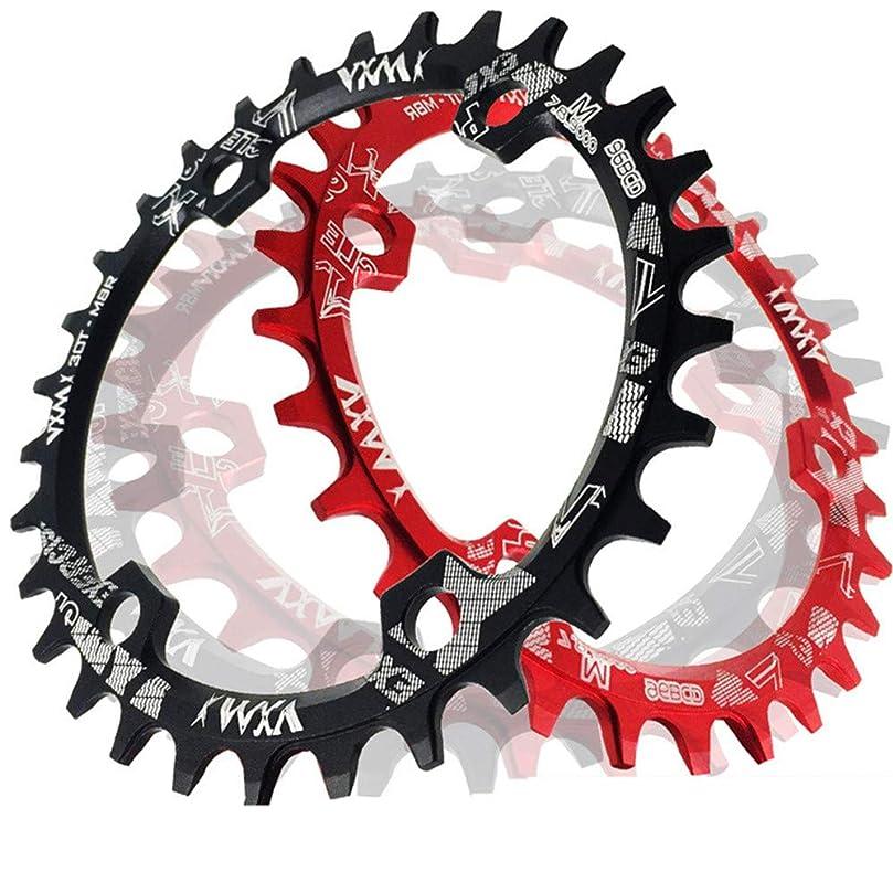 メッシュ忘れる無駄なバイクチェーンリング スピード自転車チェーンリング、BCD 96MMチェーンリングMTB自転車ナローワイドラウンドオーバルシングルチェーンリング ロードバイク、マウンテンバイク、BMX MTBバイク用 (色 : 赤, サイズ : Round 30T)