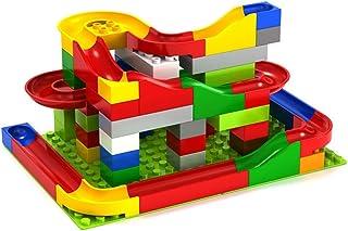 Fashionwu ビーズコースター スロープトイ ビー玉転がし ブロック 知育玩具 子ども おもちゃ