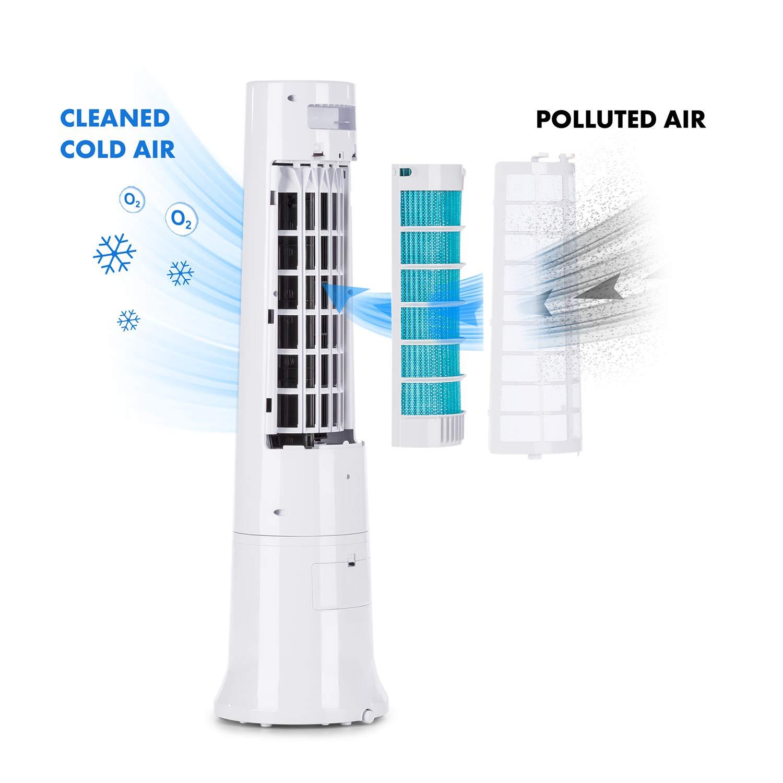 KLARSTEIN Highrise – Ventilador Enfriador 3 en 1, humidificador de ...