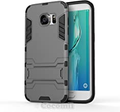 Cocomii Iron Man Armor Galaxy S7 Edge Case New [Heavy Duty] Premium Tactical Grip Kickstand Shockproof Bumper [Military Defender] Full Body Dual Layer Rugged Cover for Samsung Galaxy S7 Edge (I.Gray)
