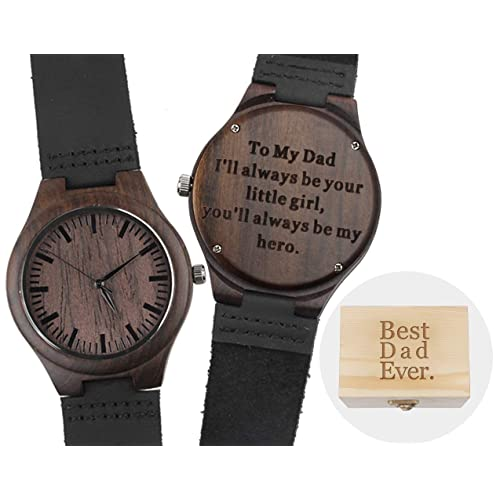 Personalized Watch For Dad Engraved Wooden Fathers Day Gifts Birthday