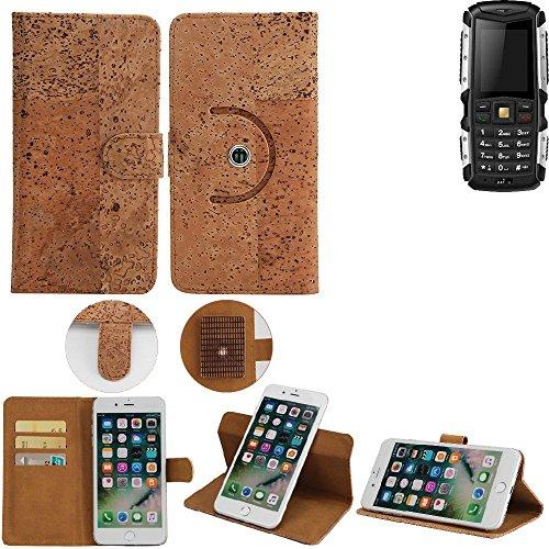 K-S-Trade® Schutz Hülle Für Jiayu F2 Handyhülle Kork Handy Tasche Korkhülle Handytasche Wallet Case Walletcase Schutzhülle Flip Cover Smartphone