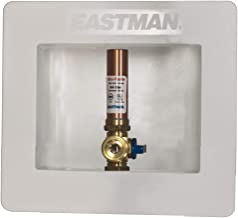 Eastman 60318 60241 Outlet Box with Hammer Arresters, 1/2-Inch Sweat Connection, White