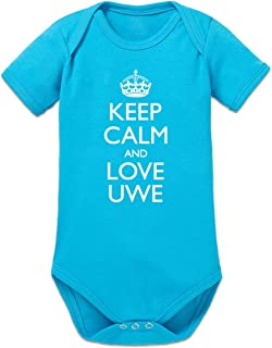 Shirtcity Keep Calm and Love UWE Baby Strampler by