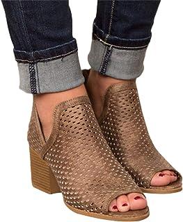 6eec7fc11ea 2019 Sandalias Romanas Para Mujer, Botines De Tacón Alto Ancho De Vestir  Hollow Zapato Solo