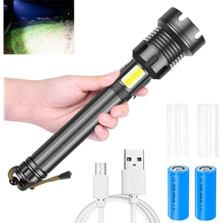 Details about  /200000LM XHP90 LED Flashlight Rechargeable Torch Zoomable 5Modes 18650//26650