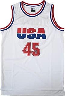 MOLPE Trump 45 USA Basketball Jersey S-XXXL White, Stitched Letters and Numbers