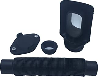 Rain Barrel Downspout Diverter Kit for 2x3 and 3x4 Downspouts (3x4 Downspout, Without Hole Saw)