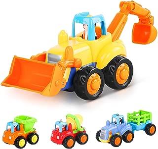 LIDODO建設車両フリクションカー 砂場 おもちゃ 子供用楽工事用車チーム玩具慣性車ミニカー 工事カー おもちゃミニショベルカー(四個入り)