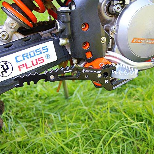 Cross Plus Fußraste Sozius Beifahrer Schwarz Universal Enduro Moto Cross