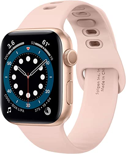 2021 Spigen Silicone lowest Fit Designed For Apple Watch Band for 44mm/42mm Series 6/SE/5/4/3/2/1 high quality - Rose Gold online sale
