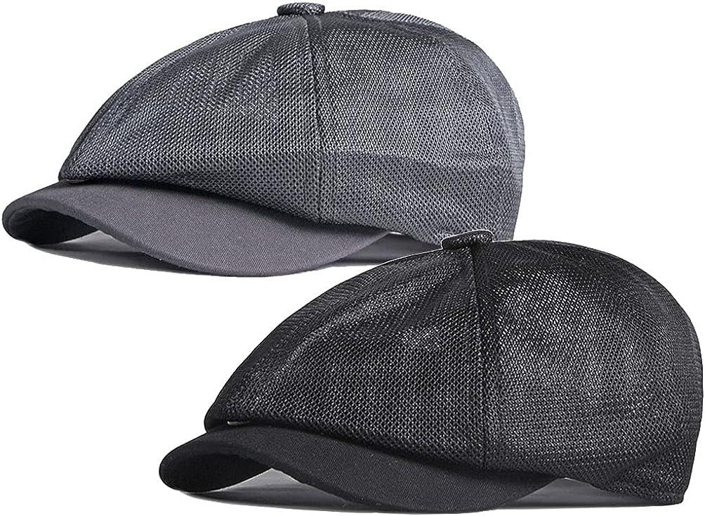 LUTICELI Men Breathable Mesh Summer Hat 8 Panel Beret Now on sale Max 74% OFF Iv Newsboy