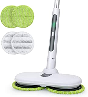 回転 モップクリーナー コードレス 電動モップ 充電自走式 伸縮可能 軽量 畳 床掃除 窓拭き 拭き掃除 掃除道具 OGORI
