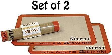 Silpat AE420295-07 Premium Non-Stick Silicone Baking Mat, Half Sheet Size, 11-5/8-Inch x 16-1/2-Inch (2 pack)