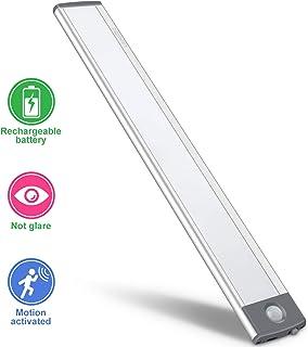 LED Motion Sensor Cabinet Light,Under Counter Closet Lighting, Wireless USB Rechargeable..