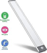 LED Motion Sensor Cabinet Light,Under Counter Closet Lighting, Wireless USB Rechargeable Kitchen Night Lights,Battery Powered Operated Light,Uniform light for Wardrobe,Closets,Cabinet,Cupboard