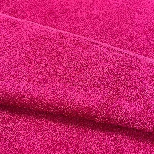 Kt KILOtela Tela por Metros de Rizo de Toalla - 100% algodón - Confeccionar Toallas, Albornoces, Baberos - Ancho 145 cm - Largo a elección de 50 en 50 cm | Fucsia