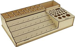 Jili Online Wooden Paint Bottles Rack Model Organizer Epoxy Tools Storage Box Holder Case #4