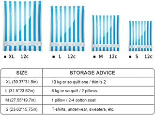Vacuum Storage Bags, Hamkaw Travel Vacuum Sealer Bags BPA Free - Reusable Space Saver Bags for Clothes & Foods