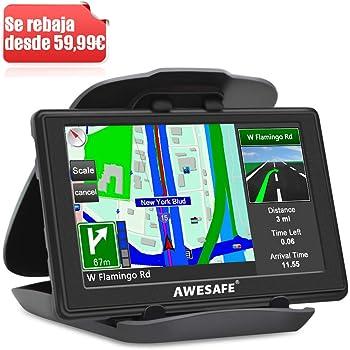 Navegador GPS de pantalla táctil de 7 pulgadas con sistema de mapas de navegación internacional, para la actualización de mapas de por vida para coches, camiones, vehículos: Amazon.es: Coche y moto