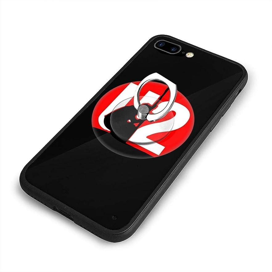 加速する見捨てられた一目U2 iPhone 7/8 Plusケースリングブラケット 携帯カバー 創意デザイン軽量 傷つけ防止 360°回転ブラケット 携帯ケース PC 衝撃防止 全面保護