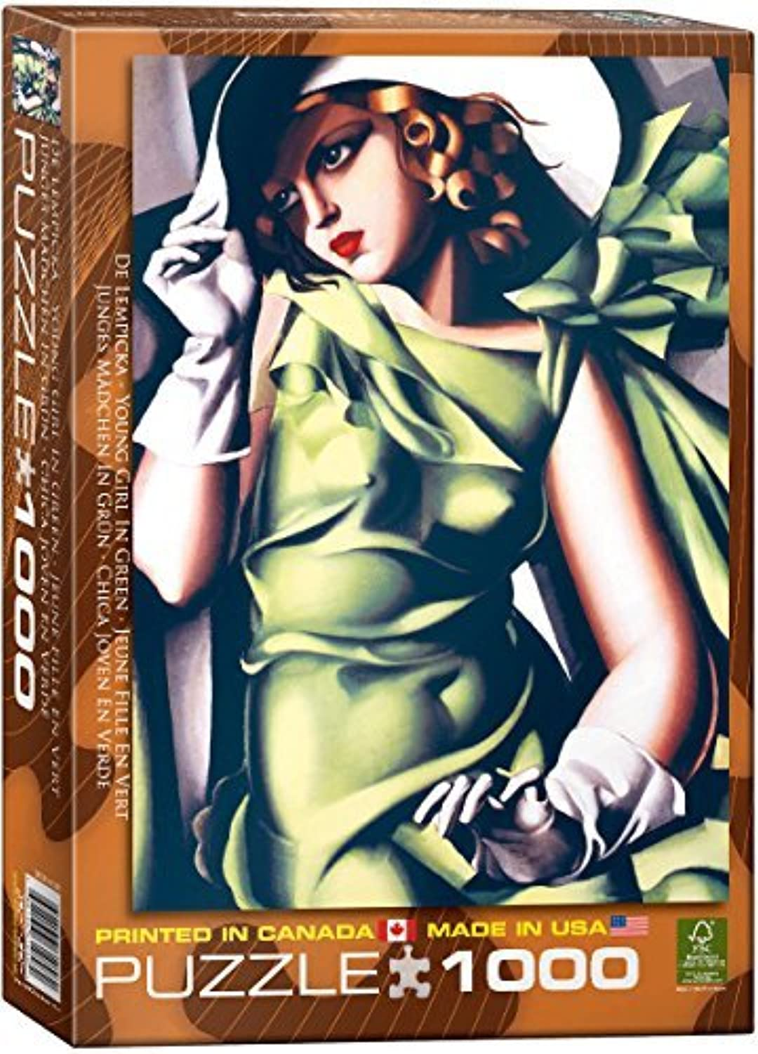EuroGraphics Young Girl in Grün by Tamara de Lempicka 1000 Piece Puzzle by EuroGraphics