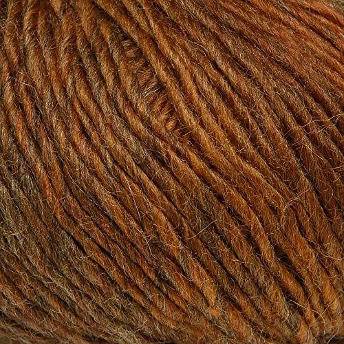ggh Myla, Farbe:009 - Goldbraun meliert, Schurwolle Mischung, 50g Wolle als Knäuel, Lauflänge ca.100 m, Verbrauch 550g, Nadelstärke 5-6, Wolle zum Stricken und Häkeln