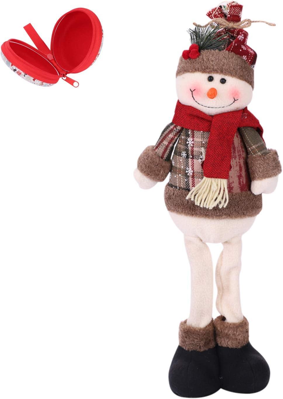 35% Max 58% OFF OFF ITODA Christmas Plush Decor Dolls Snowma Long Shelf Standing Leg