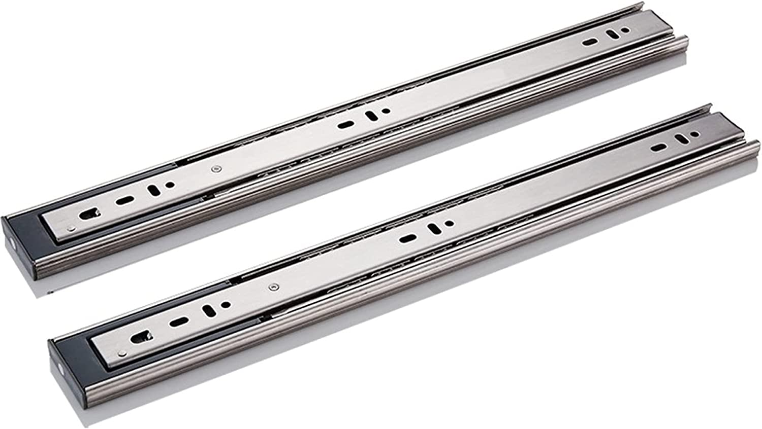 2PCS Drawer 70% OFF Outlet Rail Metal Steel 3 Large Very popular Buf Extended fold Capacity