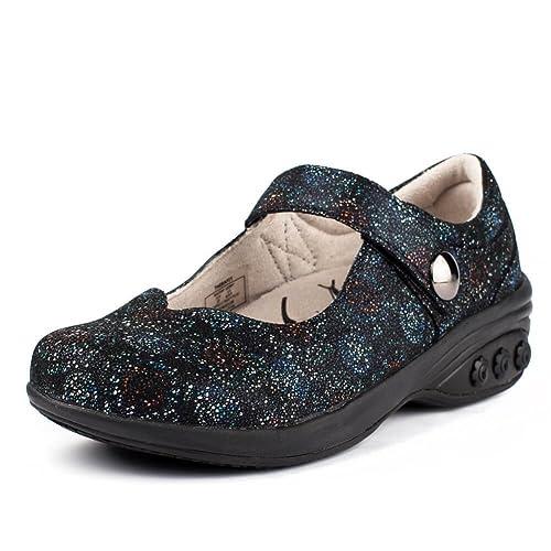 6182ba8aa15 Melissa Women s Slip Resistant Mary Jane Clog - Plantar Fasciitis Foot Pain