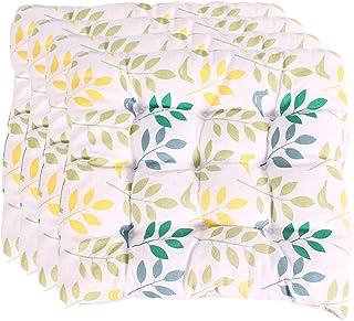 YUANYOU Set di 4 Cuscini per Sedia da Pranzo con Lacci, Cuscino per Sedile per sedie da Pranzo, Cuscino per Sedia Quadrato...