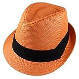 Gelante Summer Fedora Panama Straw Hats with...