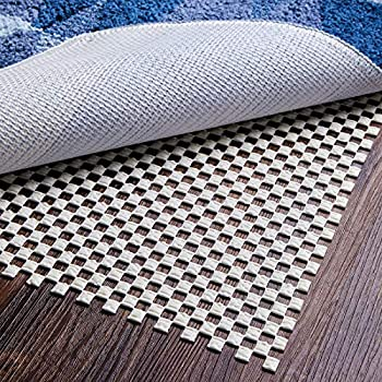 Yome Rug Pad 5 x 7 Ft Non-Slip Extra Thick Gripper for Any Hard Surface Floors 5  X 7  White