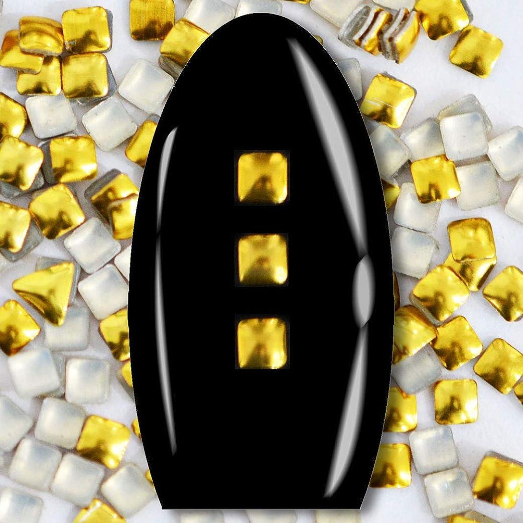 スクラップブック草武器メタルスタッズ ネイル用 100粒 STZ015 スクエア ゴールド 2mm