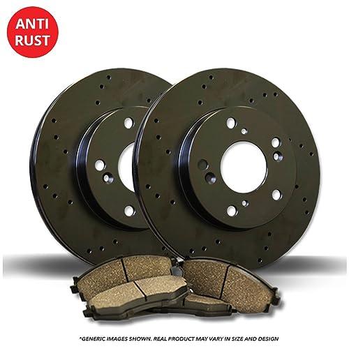 Max Brakes Front /& Rear Premium Brake Kit OE Series Rotors + Ceramic Pads Fits: 2004 04 2005 05 Nissan Altima; Non SE-R Models KT007543