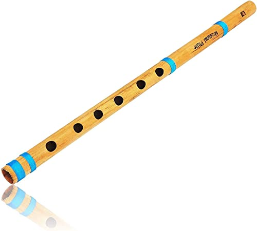 The Great Indian Bazaar Unique Birthday Gift Ideas 15 5 Authentic Indian Wooden Bamboo Flute In A Key Fipple Woodwind Musical Instrument Recorder Traditional Bansuri Hand Crafted Gifts Adult Kids