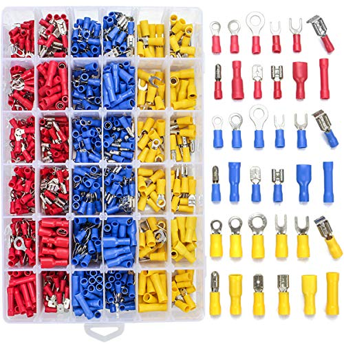 60Pcs AWG Heat Shrink Insulated Electrical Wire Connectors Bullet Terminals M//F