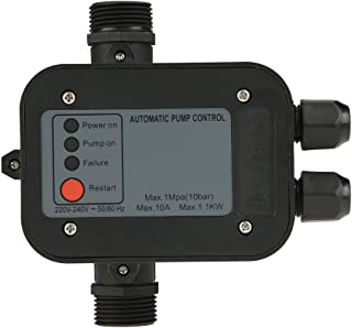 Gojiny Water Pump Controller, 220V Automatic Electric Water Pump Pressure Switch Controller for Self-priming pump, Jet pump, Garden Pump