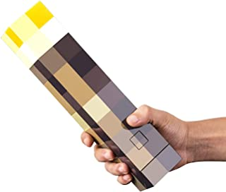 MOOK Brownstone Pixels Light-up Wall Torch for MCERS- Mounts to Your Wall, 11 Inch LED Nightstand Lamp, for Kids Bedroom L...