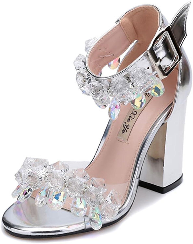 Lh yu Women Sandals Womens Wedding Bridal High End Fashion Model High Heel Bridesmaid Evening Party Sandals Size Ladies Prom shoes