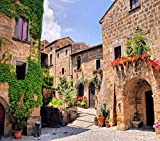 """DIY 5D Diamond Painting Kit Picturesque Corner of A Quaint Hill Town in Italy Tuscany Italian 16"""" X 20"""" Adult Full Drill Rhinestone Cross Stitch Art Crafts for Home Decoration -  Suklly"""