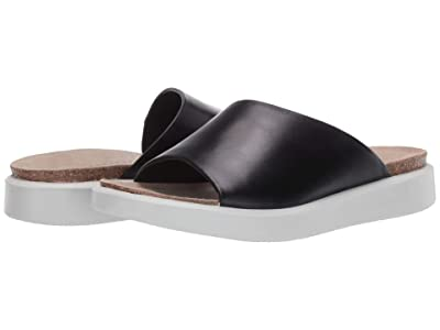 ECCO Corksphere Slide (Black Cow Nubuck) Women