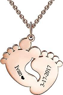 Halskette mit Anhänger Baby Füße Damenschmuck Geschenk für Schwangere