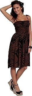 فستان الشمس للنساء من 1 وورلد Sarongs بتصميم الكركديه في اختيارك من التصميم
