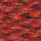 50 Gramm Filzwolle Wolle filzen + stricken uni und meliert - Farbe: schwarz-rot-orange-meliert- 21
