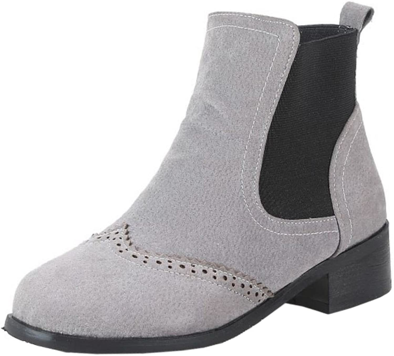CarziCuzin Women Booties Slip On