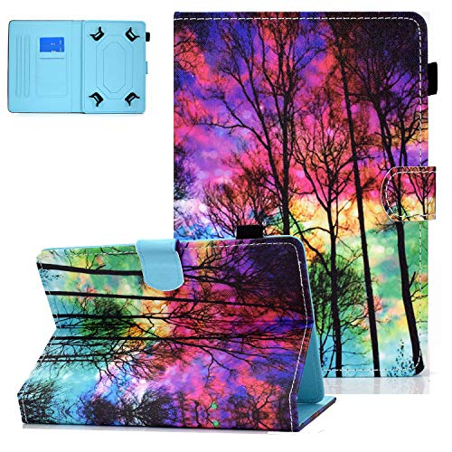 UGOcase Universal Case for 8 Inch Tablet, Synthetic Leather Protective Flip Stand Cover for Galaxy Tab A 8.0/ Tab E 8.0/ Tab 4 8.0/ Tab S2 8.0/ ZenPad 8.0/ Fire HD 8/ MediaPad M2 8.0 - Forest
