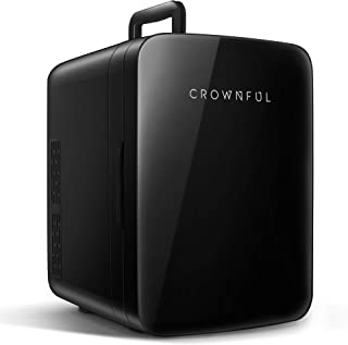 $69 » Sponsored Ad - Crownful Mini Fridge, 10 Liter/12 Can Portable Cooler and Warmer Personal Fridge for Skin Care, Food, Medic...