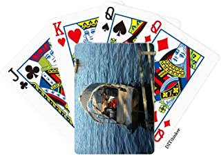 OFFbb-USA Lake Fishing Boat Photography Poker Playing Card Tabletop Board Game